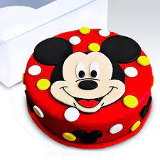 face mickey mouse cake 1 1kg 2 4lbs