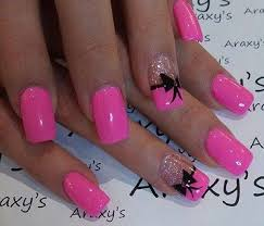 wonderfully pink in this pink and glitter inspired bow nail art add awesome french tips