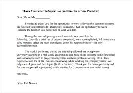 Thank You Letter After Internship Internship Thank You Letter 10