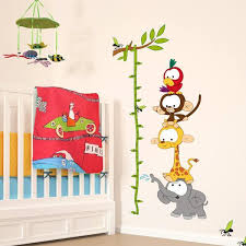 Baby Height Wall Chart Baby Jungle Height Chart Wall Stickers