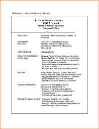 Enchanting Sample Resume Of Fresher Teacher In 8 Cv Format For