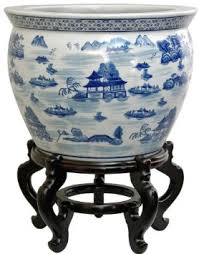 cheap oriental furniture. get quotations oriental furniture ming era export design 18inch blue and white porcelain fishbowl asian landscape cheap a