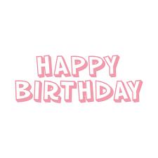 Iron On Happy Birthday Large 30x11cm