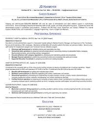 Elegant Resume Example Administrative Assistant B40online Magnificent Objective Resume Administrative Assistant