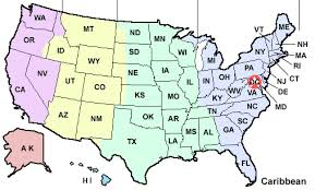 Us Time Zones Timezones In The United States