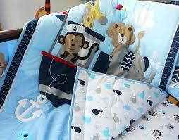 monkey bedding sets blue navigation monkey whale baby bedding set cot crib bedding set for boys