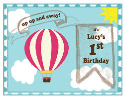 Balloon Birthday Invitations Hot Air Balloon Birthday Party Invitations 8 Pack Mypaperdot