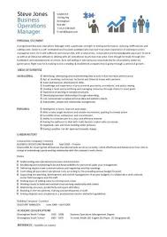 Operations Manager Resume Template