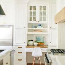 White Kitchen with Beautiful Desk Area