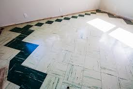 painting the living room floor tiles