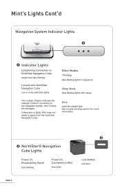Irobot Blinking Red Light Mints Lights Contd Indicator Lights Northstar Navigation