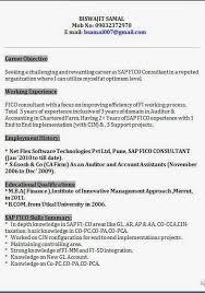 Terrific Sap Fico Resume Sample Pdf 39 For Your Example Of Resume With Sap  Fico Resume