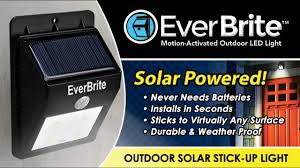 Ever Brite Lights Reviews Everbrite Motion Activated Solar Powered Led Light