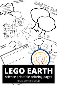 Lego Earth Coloring Pages Little Bins For Little Hands