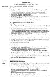 It Infrastructure Engineer Resume Sample Infrastructure Security Engineer Resume Samples Velvet Jobs 16