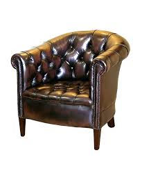 leather tub chair traditional handmade chesterfield chairs second hand leather tub chair black