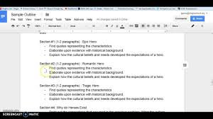 outlining for your hero essay outlining for your hero essay