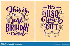 Birthday Lettering In Retro Style Anniversary Invitation Card