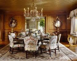 john saladino dining rooms. cindy rinfret beautifully shows how slipcovers can be used in even the most formal dining rooms with these gorgeous patterned slipcovered chairs john saladino n