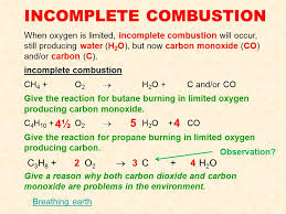 incomplete combustion demonstrate understanding of aspects carbon chemistry ppt