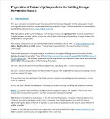 Partnership Proposal Samples Sample Partnership Proposal 13 Documents In Pdf