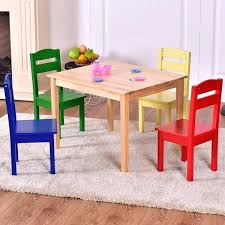 table chair for kid kids 5 piece table chair set pine wood children play room furniture table chair for kid