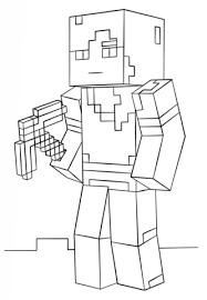 Disegno Di Alex Di Minecraft Da Colorare Disegni Da Colorare E