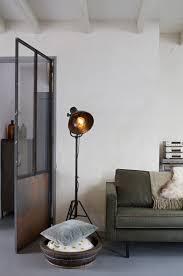 Staande Lamp Boomstam Great Landeljke Vloerlamp Hout Met Vintage