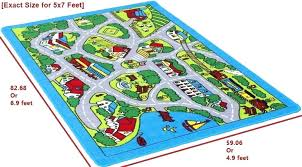 road carpet kids car rugs city map play mat for classroom baby room non slip rubber kids car road rugs city map play