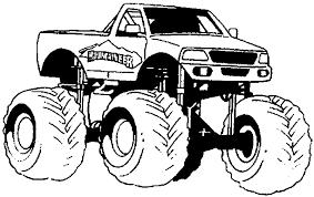 Monster Truck Kleurplaat Jouwkleurplaten