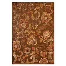 napa meadow 8 x 10 area rug medium brown and rust