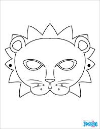 Coloriage Masque Lion Imprimerll