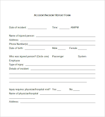 Format Of Incident Report Sample