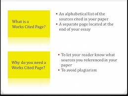 creating the works cited page ppt video online what is a works cited page