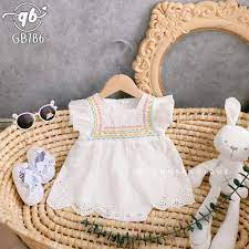 Quần áo trẻ em Quỳnh Boutique Mẫu body giả váy xinh cho bé - Quần áo sơ sinh