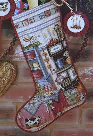 Cross Stitch Stocking Patterns Interesting Random Applique Christmas Stocking Cross Stitch