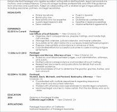 Gorgeous Sample Paralegal Resume With No Experience Resume
