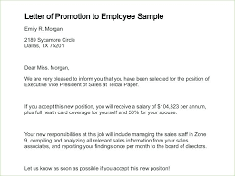Employee Promotion Announcement Template Beauteous Promotion Letter From Employer Sample To 44 Oceanirmco
