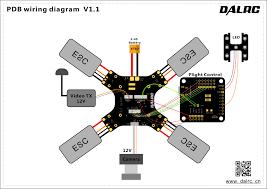 dalrc xr215 plus racing drone frame built in pdb osd buzzer dalrc xr215 plus wiring diagram