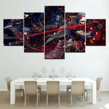 Leinwand Gedruckt Wand Kunst 5 Panel Overwatch Genji Und Hanzo