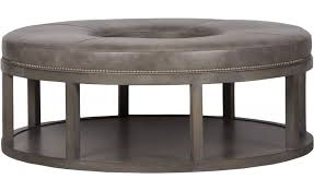 vanguard furniture van wl48dwfd grkr da rustic leather living room ottomans grey