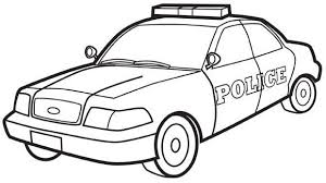 Police Car Colouring Page Printables Cars Coloring Pages