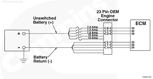 hi i have a 2000 ford f 650 the cummins 24 valve engine here is the unswitched power supply for the ecm graphic