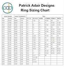 Patrick Size Chart Pad Ring Sizer Patrick Adair Designs