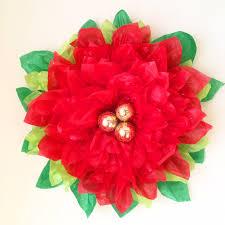 How To Make Flower Out Of Tissue Paper Tissue Paper Pointsettia Paper Flower Tutorial Handmade