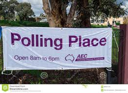 Banner Outside Federal A Commission Polling Australian Electoral zqEwaxz6