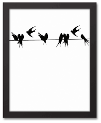 birds on a wire canvas wall art 11x14 on birds on wire canvas wall art with birds on a wire canvas wall art 11x14 contemporary prints and