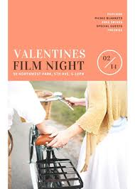 Valentines Film Night Flyer - Templates By Canva