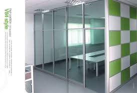 aluminum office partitions. V84 Series Used Office Wall Partitions / Clear Glass Partition Walls Aluminum F