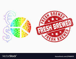 Rainbow Pie Chart Rainbow Colored Dotted Currency Pie Chart